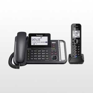 گوشی تلفن بی سیم دوخط مدل KX-TG9581
