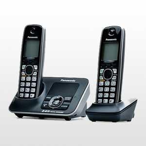 تلفن بی سیم دو گوشی پاناسونیک | تلفن بی سیم پاناسونیک KX-TG3722