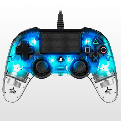 Wierd Illuminated Compact Controller Crystal Blue | Wierd Compact-NACON