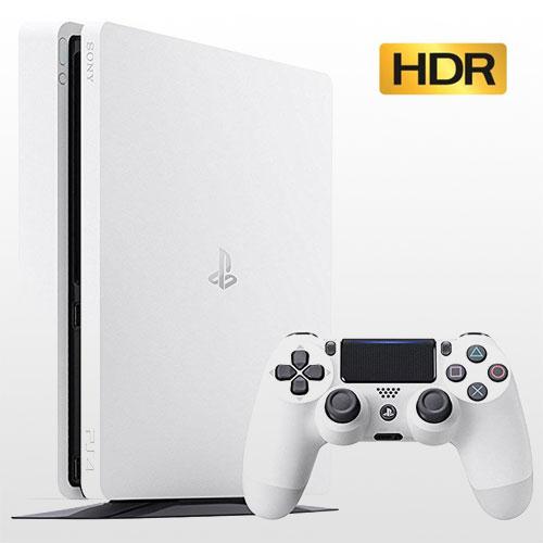 تصویر پلی استیشن 4 اسلیم تک دسته 500 گیگ سفید PS4 Slim 500GB-R2