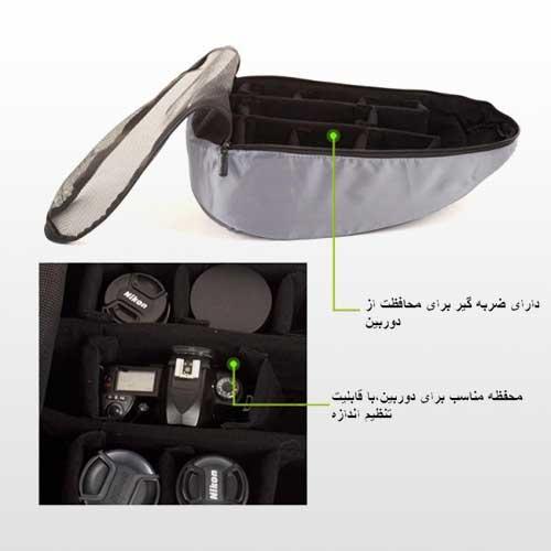 کوله لپ تاپ و دوربین آگور Ltb6317