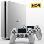 PS4 Slim 500GB R2 CUH 21016A Two Dualshock 4 Silver