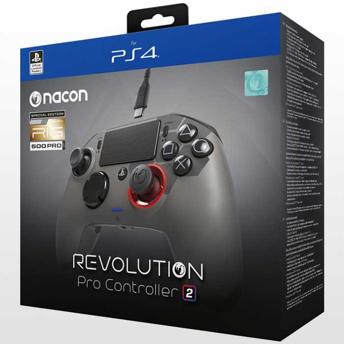 تصویر دسته پلی استیشن ۴ Revolution PRO Controller Gamepad V2-Gray-نسخه RIG