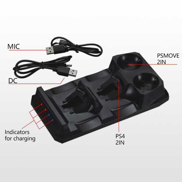 تصویر پایه شارژر دسته پلی استیشن ۴-Dualshock 4 And PS Move