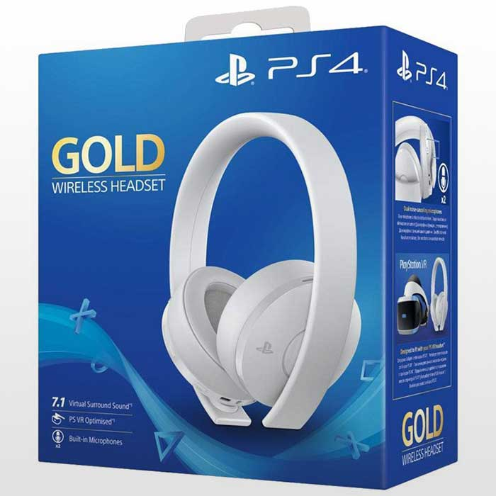 تصویر Playstation Gold Headset-White