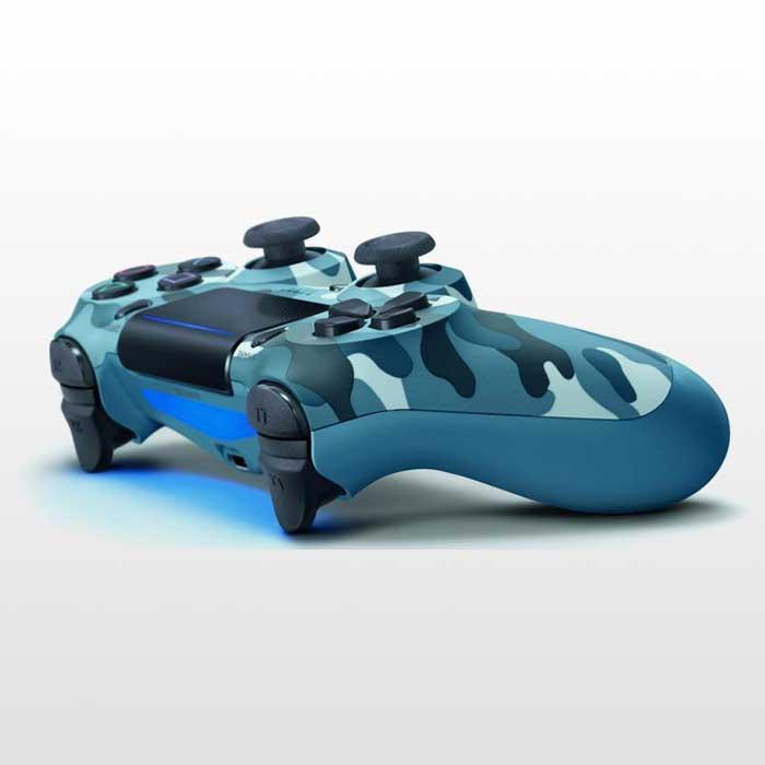 تصویر دسته پلی استیشن ۴ DualShock 4 Blue Camo