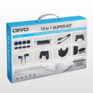 تصویر کیت ۱۵ کاره پلی استیشن ۴-OTVO 15 in 1 Super Kit for PS4