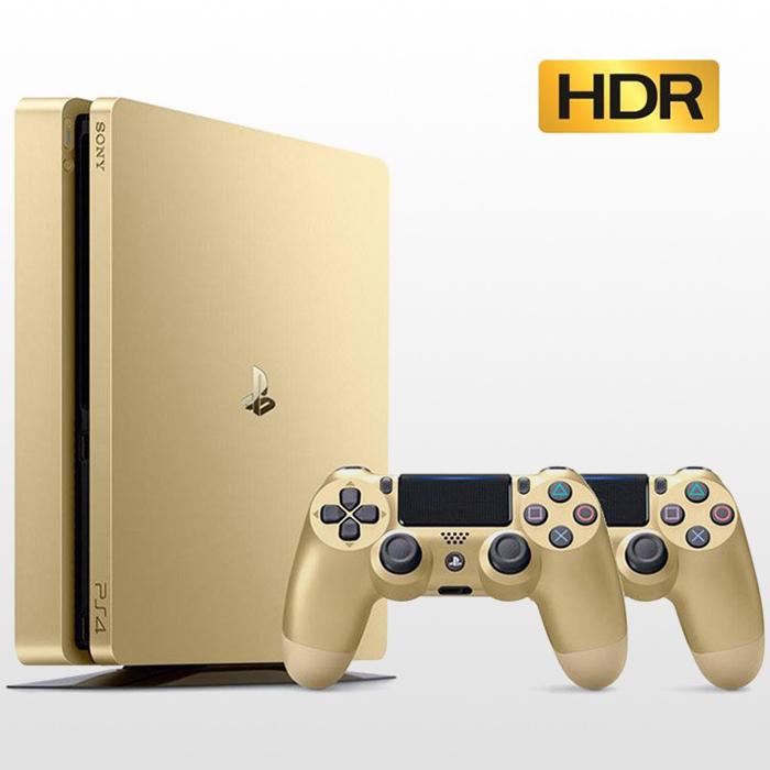 تصویر پلی استیشن ۴ اسلیم دو دسته ۵۰۰ گیگ طلایی PS4 Slim 500GB-R2-CUH2016A