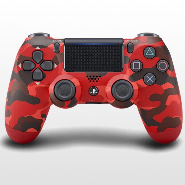 تصویر دسته پلی استیشن ۴ DualShock 4 Red Camo