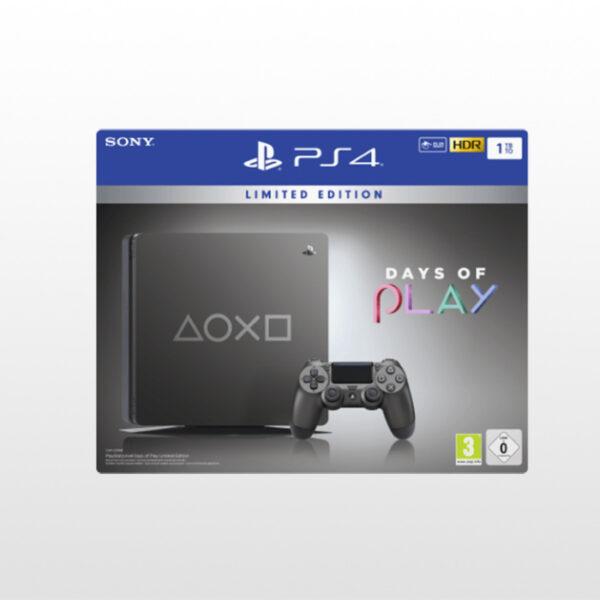 تصویر پلی استیشن ۴ اسلیم تک دسته ۱ ترابایت PS4 Slim 1TB-R2-CUH 2216B Days of Play Limited Edition