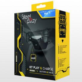 تصویر کیت شارژ دسته بازی پلی استیشن Steel-Play DualShock 4
