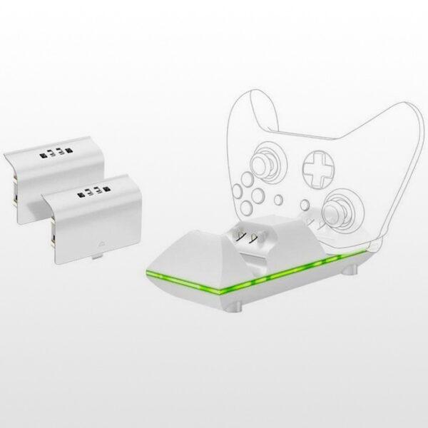 تصویر پایه شارژ و پک باتری دسته ایکس باکس SparkFox Dual Controller Charge for Xbox