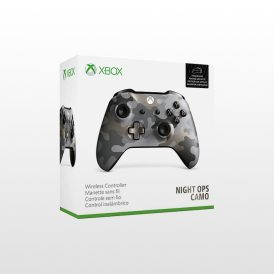 تصویر دسته ایکس باکس وان Xbox One Wireless Controller Midnight Ops Camo