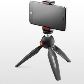 سه پایه دوربین مانفروتو Manfrotto pixi mini Tripod Black+Phone Clamp