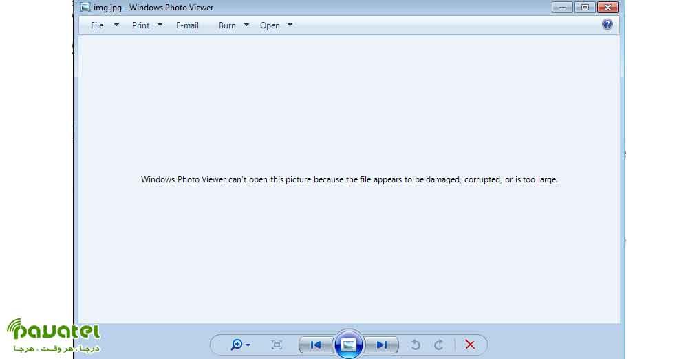 خطای Windows Photo Viewer Can't Open This Picture