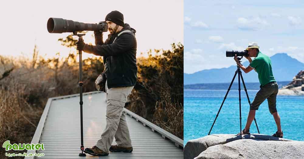 سه پایه برای عکاسی بهتر است یا تک پایه؟