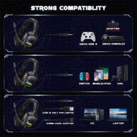 هدست گیمینگ Onikuma K20 Gaming Headset - Black