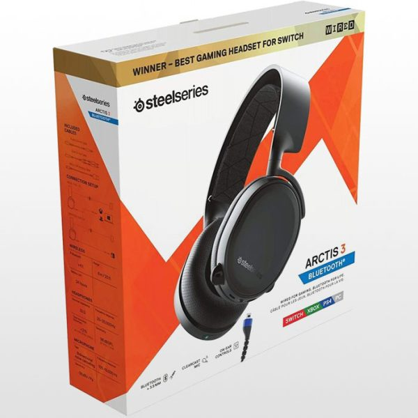 هدست گیمینگ SteelSeries Arctis 3 Bluetooth Gaming Headset - Black