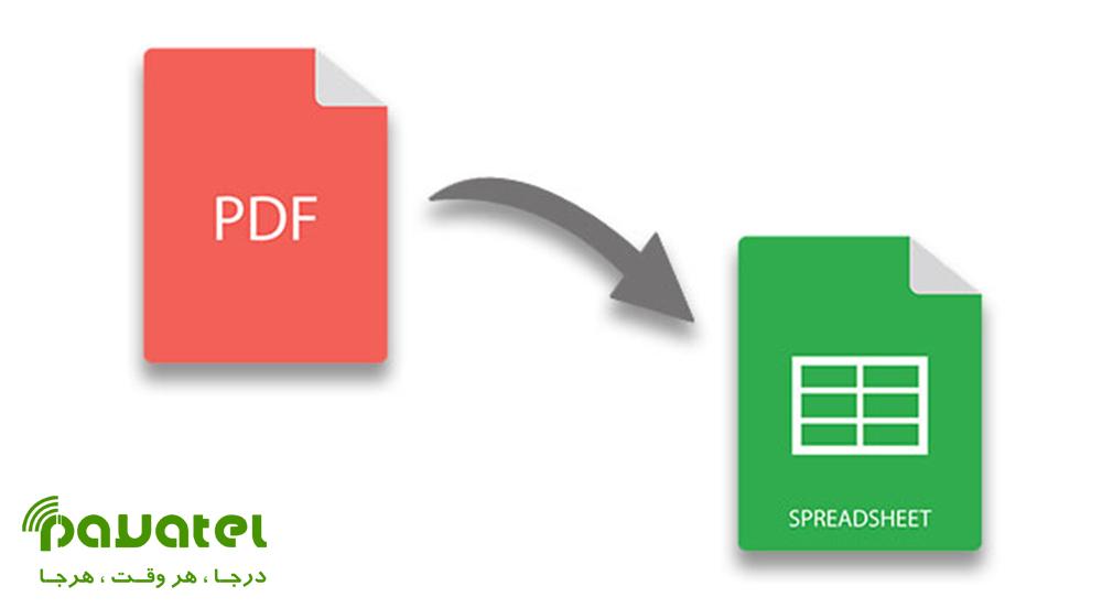 روش های آنلاین تبدیل فایل PDF به Excel