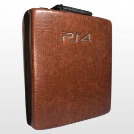 کیف ضد ضربه پلی استیشن ۴ پرو طرح Brown Leather