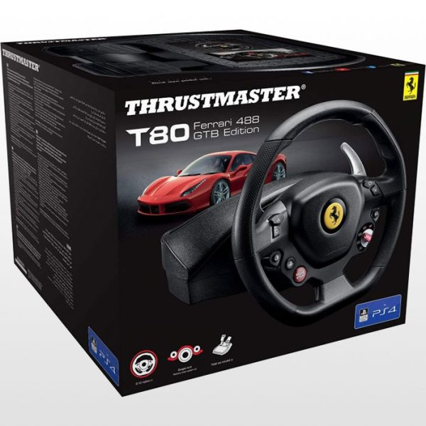فرمان بازی Thrustmaster T80 نسخه Ferrari 488 GTB Edition - مخصوص PS4