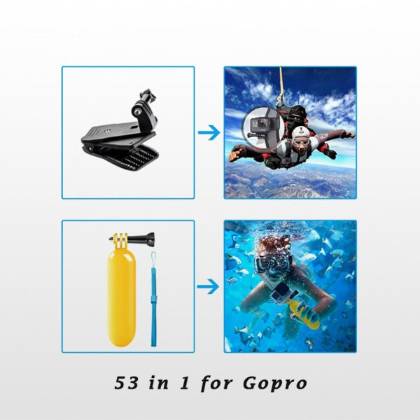 Gopro Accessories Combo Kit 53 in 1