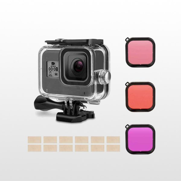 Waterproof Housing with Filter for Gopro Hero8