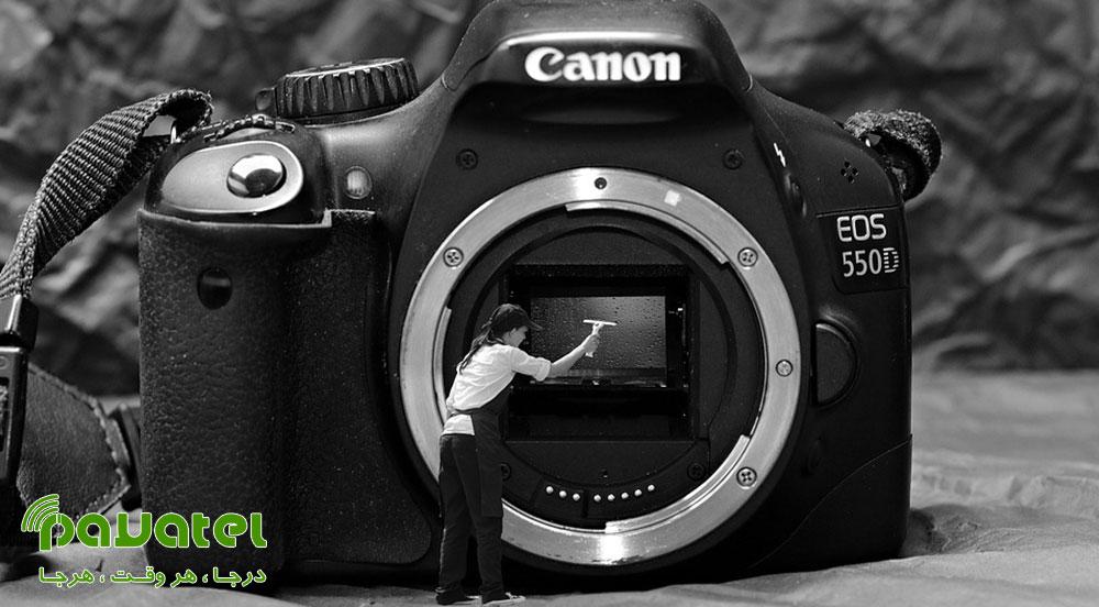 تمیز کردن حسگر دوربین عکاسی
