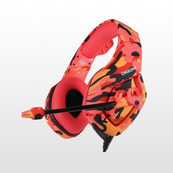 هدست گیمینگ Onikuma K1B-Red Camo