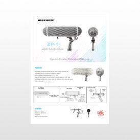 بسکت و دسته تفنگی میکروفن مرنتز Marantz ZP1 Blimp-style Microphone