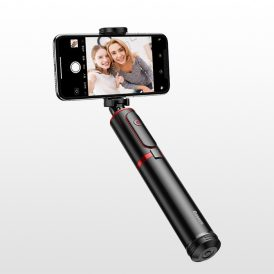 مونوپاد پایه دار بیسوس Baseus SUDYZP-D19 Fully Folding Selfie Stick Black+red